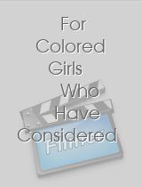 For Colored Girls Who Have Considered Suicide-When the Rainbow Is Enuf