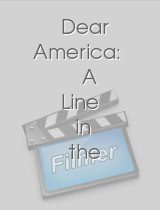 Dear America A Line in the Sand