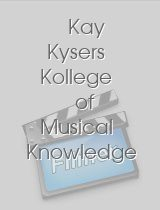 Kay Kysers Kollege of Musical Knowledge