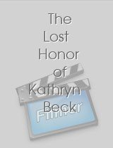 The Lost Honor of Kathryn Beck