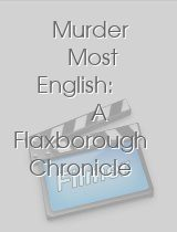 Murder Most English A Flaxborough Chronicle