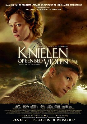 Knielen op een bed violen download