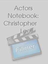 Actors Notebook Christopher Lee