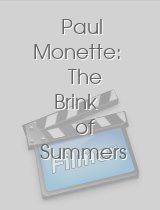 Paul Monette The Brink of Summers End