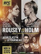 UFC 193 Rousey vs Holm