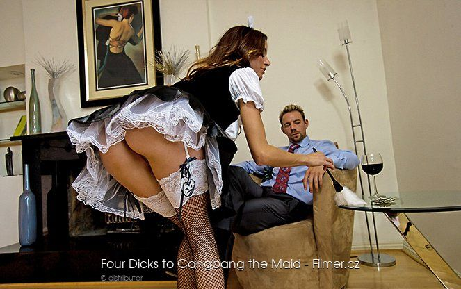 Four Dicks to Gangbang the Maid online